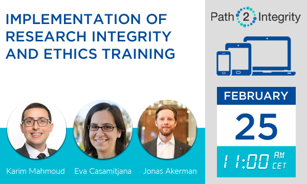 Path2Integrity Dialogue webinar 25.02.2021